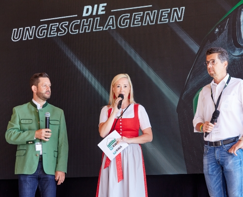 RWA VD Christoph Metzker, Moderatorin Sabine Kronberger, LTC GF Günter Kallus